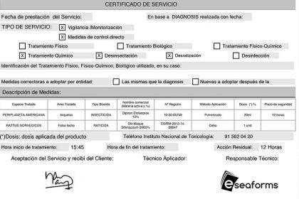Certificado de plagas junta andalucia