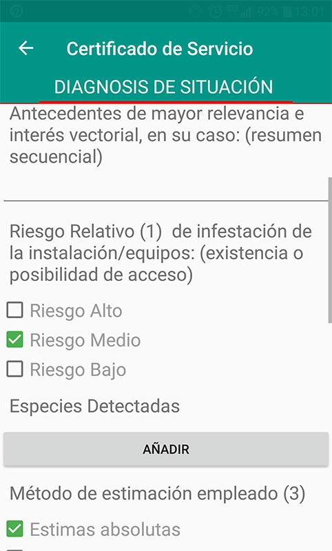 Certificados de plagas