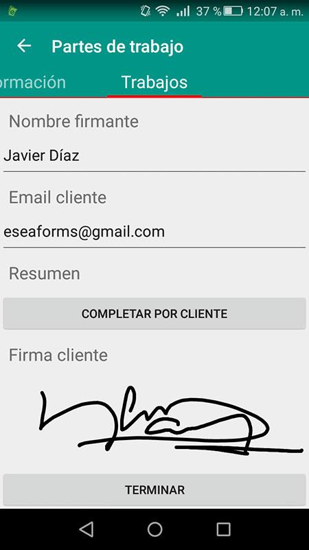 aplicacion firma partes de trabajo