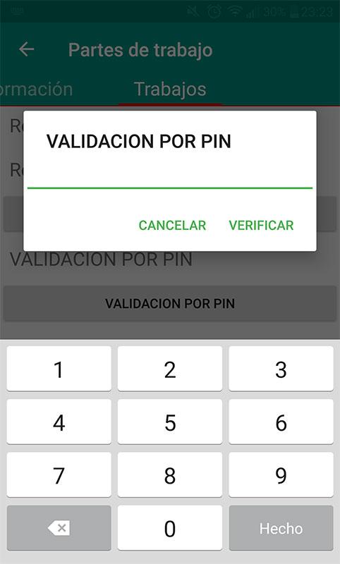 App validacion por pin