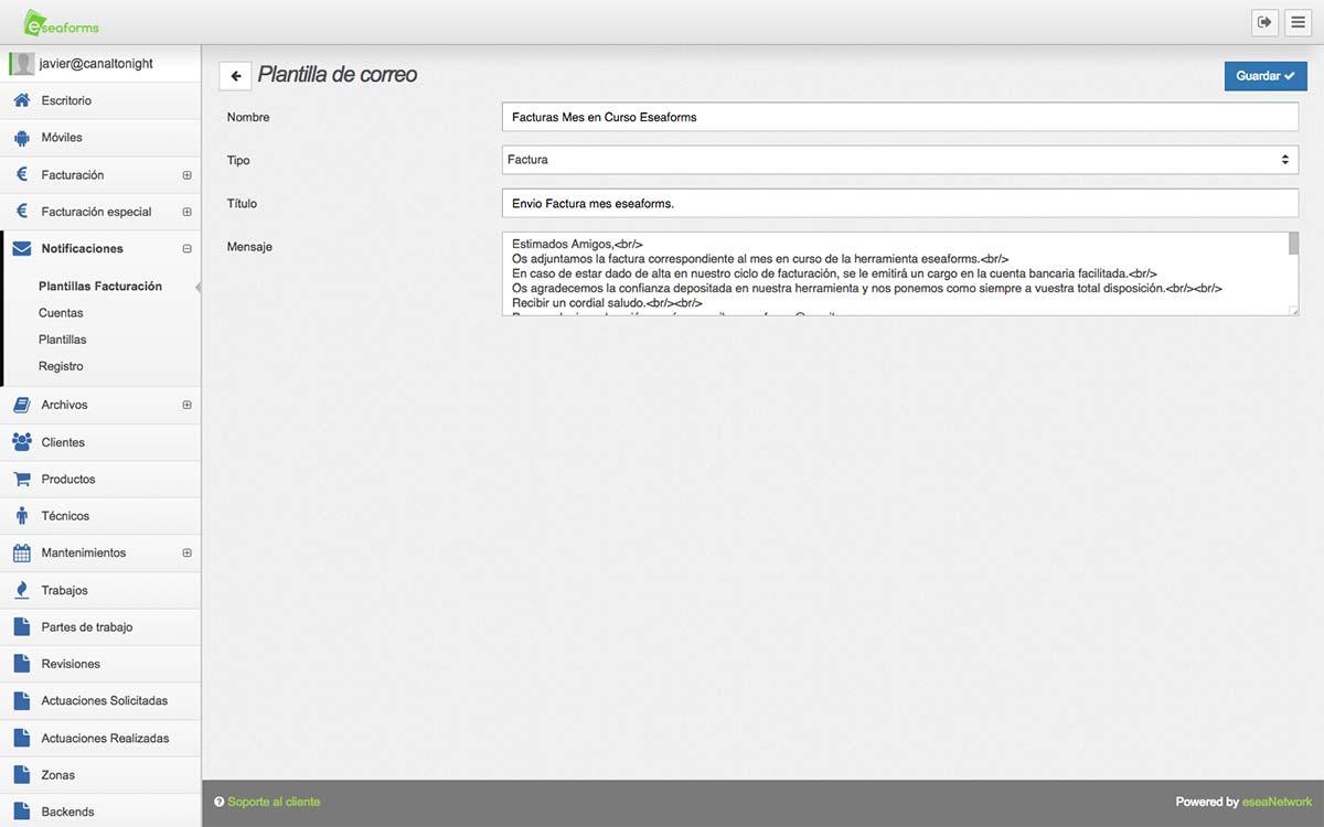 Software Autonomos plantillas de correo