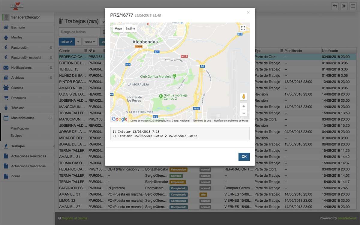 Software sat geoposicionamiento