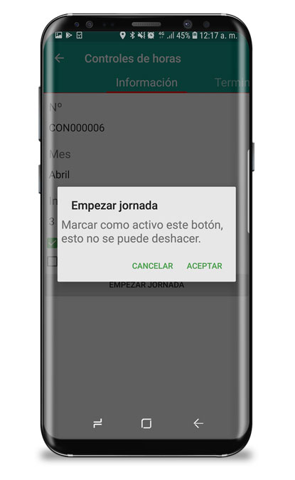 app control de horas