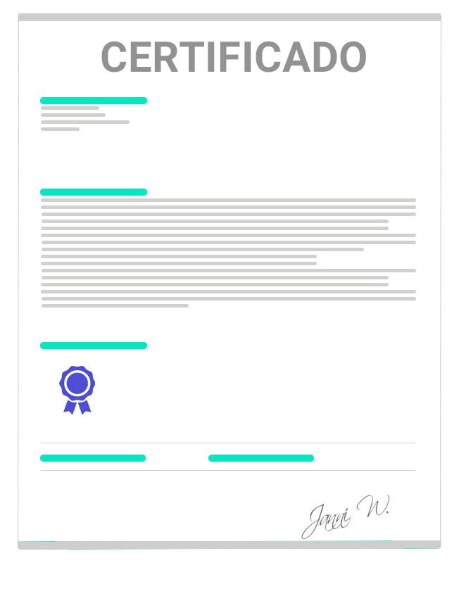certificado de plagas